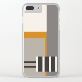 PLUGGED INTO LIFE (abstract geometric) Clear iPhone Case