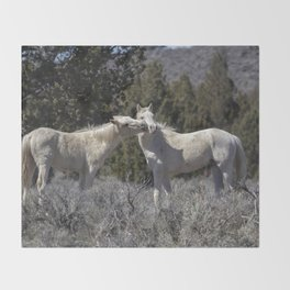 Wild Horses with Playful Spirits No 2 Throw Blanket