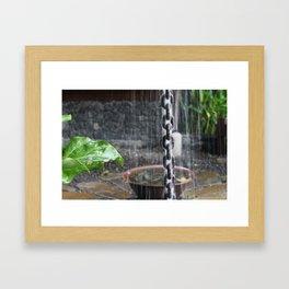 Chain in the Rain Framed Art Print