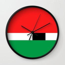 Xmas Color Santa Claus Colour3 Wall Clock