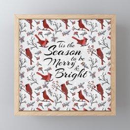 Christmas Cardinal  Framed Mini Art Print