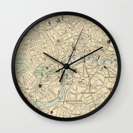 Vintage Map of London England (1901) Wall Clock