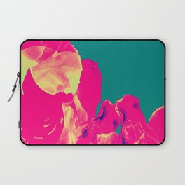Abstract Roses on Aqua Background Laptop Sleeve
