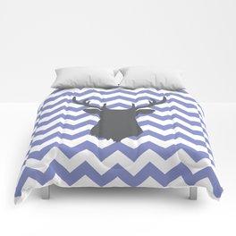 Purple chevron deer Comforters