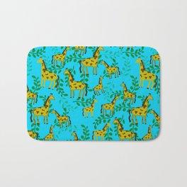 Cute Giraffes Pattern Bath Mat