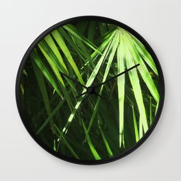Lost in Green Wall Clock