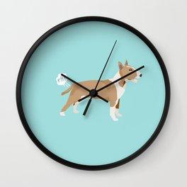 Bull Terrier fawn dog breed funny dog fart Wall Clock