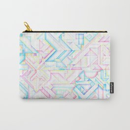 90s Inspired Print // GEOMETRIC PASTEL BRIGHT SHAPES PATTERN GRAPHIC DESIGN Carry-All Pouch