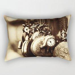 Vintage Clocks-Sepia Rectangular Pillow