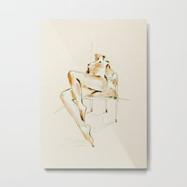 nude woman 2 Metal Print
