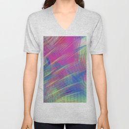 Colorful Curb Appeal Abstract Unisex V-Neck
