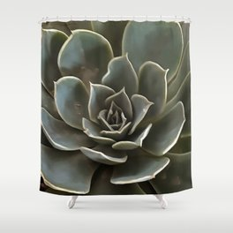 Garden Succulent Green Gray Tones Shower Curtain
