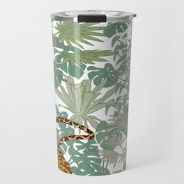 Leopards in the jungle pattern. Travel Mug
