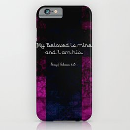 Romantic Bible Verse Song of Solomon 2:16 iPhone Case