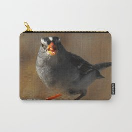 Male White Crowned Sparrow Carry-All Pouch