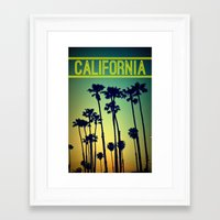 california Framed Art Prints featuring CALIFORNIA by RichCaspian