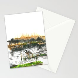 Facing water Stationery Cards
