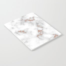 Rose gold gray and white marble Notebook