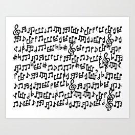 Take Notes Art Print