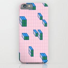 Grid & Tetris iPhone Case
