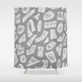 Cement Shapes Drawing Shower Curtain