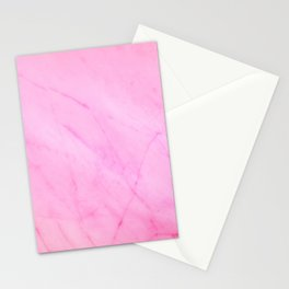 Light Pink Marble Texture Stationery Cards