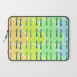 Trees and colorful clouds Laptop Sleeve