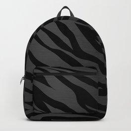 Zebra Stripes on Dark Gray Backpack