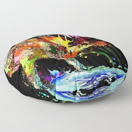 Moose Grunge Floor Pillow