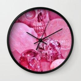 Pink Skull Wall Clock