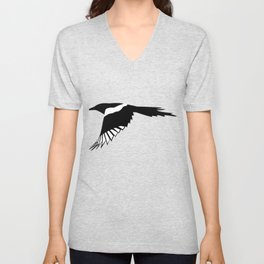 Pica Pica (magpie)  one Galery Giftshop Unisex V-Neck
