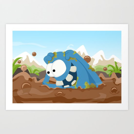 Monster KRATZ from Monster series Art Print