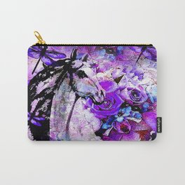 HORSE ROSES DRAGONFLY IMPRESSIONS Carry-All Pouch