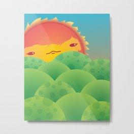 Sunlit Hills Metal Print