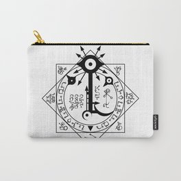 Invisible Sun Symbol on White Carry-All Pouch