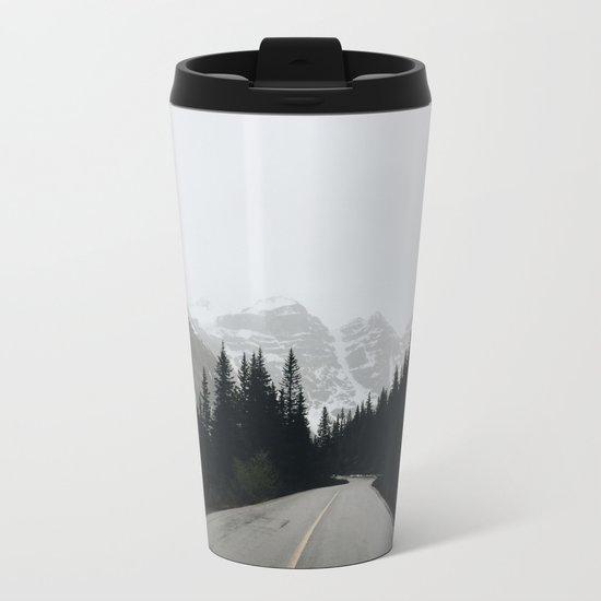 Moraine Lake Road Metal Travel Mug