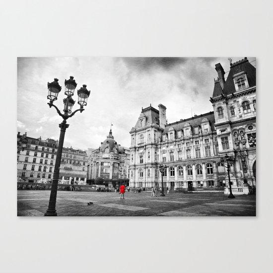 Paris Red Canvas Print