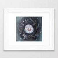 hedgehog Framed Art Prints featuring Hedgehog by Marjolein Caljouw