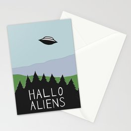 Hallo Aliens Stationery Cards