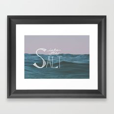 Into the Salt Framed Art Print