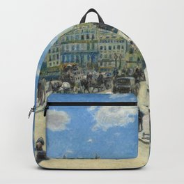 Pont Neuf Paris Painting by Auguste Renoir Backpack