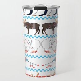 Ugly Christmas with Animals Travel Mug