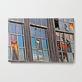 Three Winchendon Windows Metal Print