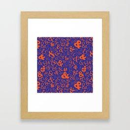 Ampersands - Blue & Orange Framed Art Print