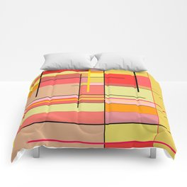 color and lines Comforters