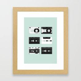 Cassette Pattern #2 Framed Art Print