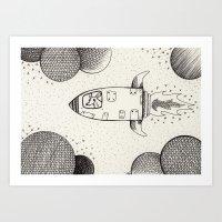 Spacerat´s Adventures Art Print
