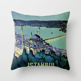 Golden Horn Istanbul Throw Pillow
