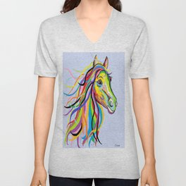 Horse of a Different Color Unisex V-Neck