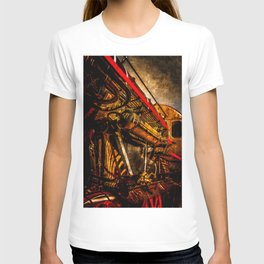 Vintage Steam Engine Locomotive - Grandfather Of A Spacecraft T-shirt